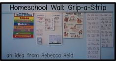 I love the Grip-a-Strips let me display current learning items and project, but it is easily exchanged for others! It's a great tool for a school room wall.   Line upon Line Learning blog.