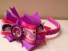 Pillow Woven Headband with Detachable Bow on Etsy, $14.50 lalaloopsy bow