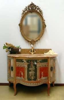 Antique dresser commode barocco veneziano cassettiera hand decorated ...
