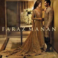 Nadia Ali & Shahzad Noor in all new Faraz Manan Collection