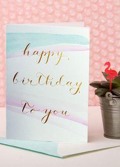 de Winton birthday card