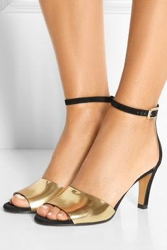 Chloe Metallic Leather & Suede Sandals available for $501 (was $715)