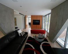 Love the angular concrete walls!