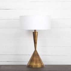 Light up your home with unique lamps, chandeliers & lighting fixtures. Browse a variety of contemporary, modern and traditional lights at High Fashion Home. White Table Lamp, Brass Table Lamps, Light Table, Lamp Light, Lamp Table, Lighting Sale, Modern Lighting, Table Lighting, Lighting Ideas
