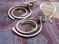 Sterling Silver Earrings Metalwork Artisan by AUNALIArtisanMetal