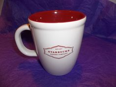 STARBUCKS Coffee Company Red White 13 fl oz Mug 2006 Collectible - find this #STARBUCKS Mug and so much more at #ThenAndAgainTreasures on eBay, we literally have something for everyone...