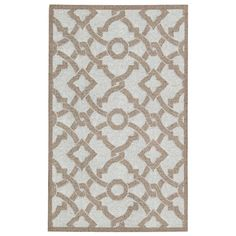 Waverly Treasures Artistic Twist Early Grey Area Rug by Nourison (8' x 10') (8' x 10'), Beige, Size 8' x 10' (Polyester, Geometric)