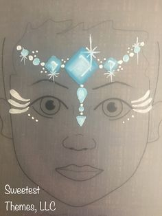 Jewel crown face painting