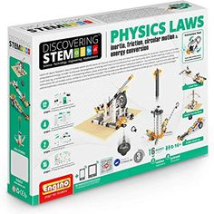 Engino Physics Laws-Inertia, Friction, Circular Motion And Energy Conservation Building Set Piece) - Sciensational Gifts Science Store! Science Store, Easy Science, Science Experiments, Physics Laws, Physics Concepts, Best Lego Sets, Engineering Toys, Stem Classes, Newtons Laws