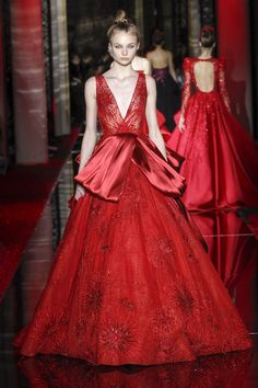 Zuhair Murad Spring/Summer 2017 Couture Collection Red.