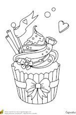 Coloriage cupcake magique