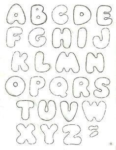 Felt lettering template