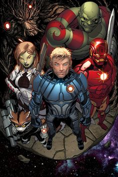Guardians of the Galaxyby Ed McGuinness and Marte Gracia. Not a Guardians fan but god is this cool.
