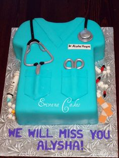 Amazing cake for retiring surgeon/nurse/pa/etc. Doctor Cake, Doctor Gifts, Nurse Cakes, Cupcake Cookies, Cupcakes, Medical Cake, Birthday Cake For Husband, Fathers Day Cake, Retirement Cakes