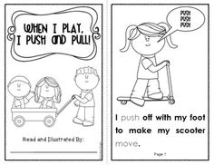 When I Play, I Push and Pull  {Early Science Reader}  10 student pages, $