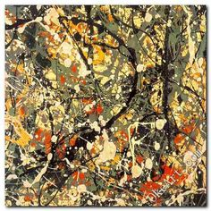 JACKSON POLLOCK INSPIRED MODERN ABSTRACT OIL PAINTING, Insane ART,24x24 inch(China (Mainland))