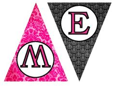 WELCOME Banner (black and pink)
