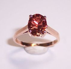 Rose Gold and AA Red Oregon Sunstone Ring I'll take this one please