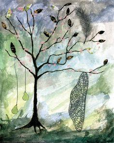 Wing Tree (print).by Rebecca Rebouche $45.00, via Etsy.