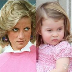 Grandma Princess Diana and the most precious Princess Charlotte. I don't mind side by side photos like this. Princess Diana Family, Royal Princess, Prince And Princess, Prince William Family, Prince William And Catherine, George Of Cambridge, Duchess Of Cambridge, Kate Middleton, Princesa Elizabeth