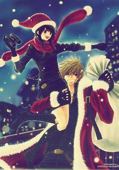 Teru and Kurosaki wish you a very merry Christmas!!!!! -- Dengeki Daisy