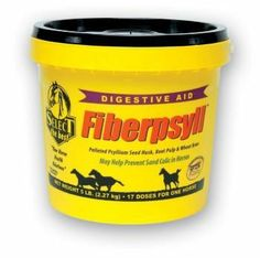 Fiberpsyll Horse Digestive Aid - 20 lb (53 days) by Select The Best. $83.95. May Help Prevent Sand Colic in Horses. Fiberpsyll 4 in 1 may help prevent sand colic. Adds bulk fiber to the diet and provides digestive support. 4 in 1 formula contains psyllium, wheat bran and beet pulp for bulk fiber, plus probiotics (direct-fed-microbials), prebiotics (mannaoligysides) and live yeast to support digestion. Supportive enzymes benefit the digestive system, working in tand...