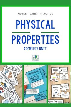 Physical Properties of Matter Activities Bundle 5th Grade Science, Science Student, Elementary Science, Elementary Teacher, Math Teacher, Teaching Science, Matter Activities, Sorting Activities, Science Activities