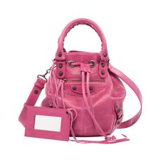 so sweating this little baby version of my giant Pompon Balenciaga Mini Pompon Handbag Pink Balenciaga, Balenciaga Handbags, Balenciaga City Bag, Luxury Handbags, Fashion Handbags, Designer Handbags, Purses And Bags, Shoulder Strap, Tote Bag