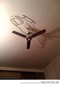funny helicopter ceiling fan art #artsy fartsy #art #helicopter #ceilings
