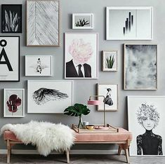 Wall decor  Scandinavian Design Interior Living | #scandinavian #interior