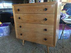 Mid-Century Modern Blonde Dresser