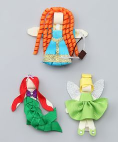 Love this Picki Nicki Hair Bowtique Princess & Fairy Clip Set by Picki Nicki Hair Bowtique on #zulily! #zulilyfinds