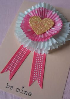 Cupcake liner Valentine's Day cards.