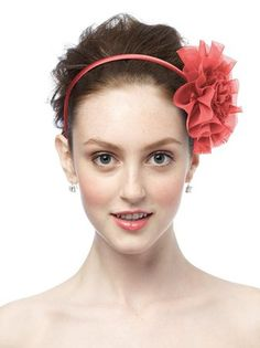 Coral headband from Dessy