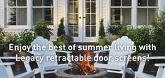 Enjoy the best Summer with Phantom Legacy Retractable Screens!  #retractablescreens #homedecor #outdoors #insectprotection #insectmesh