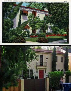 Film actor John Boles' home at 2265 Canyon Dr. in Los Angeles. He lived there around 1932. Bizarre Los Angeles