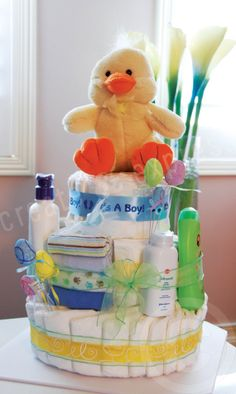 3-Tier Diaper Cake - It's a BOY!