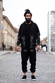 #Black #look #men #mensfashion #street #style