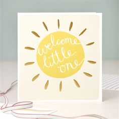 Modern Calligraphy New Baby Card - Welcome Little One - Baby Products Calligraphy Cards, Modern Calligraphy, Caligraphy, Welcome Card, Welcome New Baby, New Baby Cards, Baby Shower Cards, Diy Cards, Strands