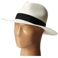 Hat Attack Panama Continental (Bleach/Black Classic Ribbon)... (7,875 INR) ❤ liked on Polyvore featuring accessories, hats, hat attack, brim straw hat, straw hat, hat attack hats and brimmed hat