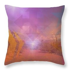 Mystery in Shapes Throw Pillow by Mary Rush Gravelle