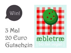 Give-Away! Gewinnt 3 Mal einen 20 Euro Gutschein für aebletrae!  Das Give-Away dieser Woche sind drei 20 Euro Gutscheine für aebletrae...