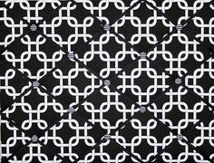 Contemporary Black White Chain Link Design French Ribbon Memo Board