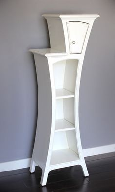 dust furniture* — Modern Storage Cabinet - Cabinet No.4 - Stepped Display Cabinet with Door-comes in different colors.