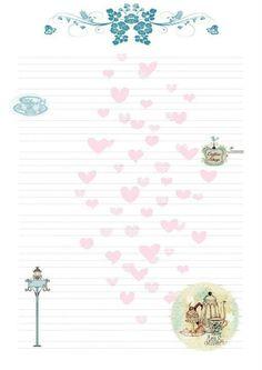 Papel de carta vintage para imprimir pesquisa google - Hojas decoradas para ninas ...