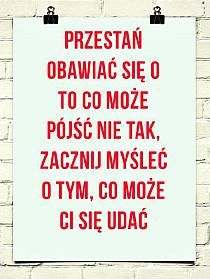 Bo z drugiej lepiej szukać pozytywów :) Daily Quotes, Best Quotes, Fight For Your Dreams, Soul Healing, Summertime Sadness, Tomorrow Will Be Better, New Things To Learn, Motto, Positive Thoughts