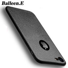 Balleen.E Phone Cases For iPhone 7 Luxury Retro PU Leather Soft Silicon Case Back Cover Fundas Capa Coque For iphone7 6 6s Plus