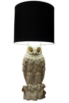 Vintage Ceramic Owl Lamp -$690