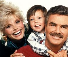 Burt Reynolds and Loni Anderson - Adoptive Parents Burt Reynolds Son, Cute Celebrities, Celebs, Childhood Images, Famous Couples, Famous Men, Adoptive Parents, Old Movie Stars, Couples