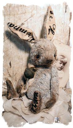 Old Blue Hare Rabbit - A Chubbi Bunni Desgin by me - Whendi's Bears